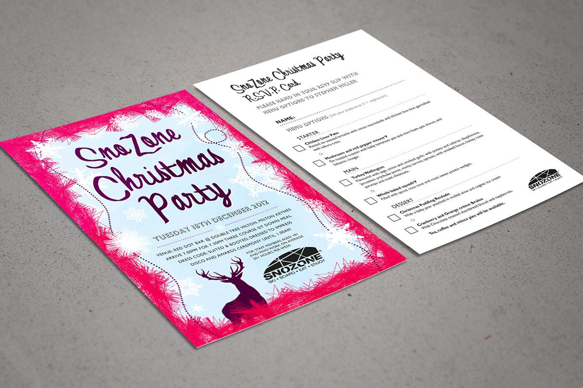 Snowzone xmas party card
